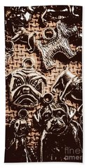Silver Dog Show Hand Towel