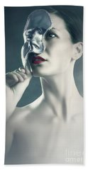 Bath Towel featuring the photograph Silver Face by Dimitar Hristov