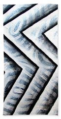 Silver Glass Waves Study 1  Hand Towel