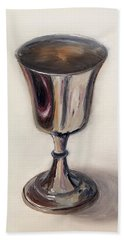 Silver Goblet Hand Towel