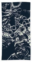 Silver Hounds Hand Towel