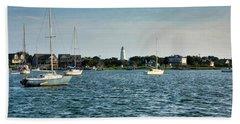 Silver Lake And Ocracoke Island Lighthouse Hand Towel