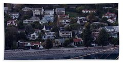 Silver Lake Reservoir And Hollywood Hills Hand Towel
