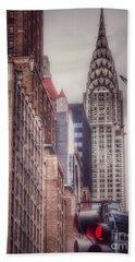 Silver Majesty - Chrysler Building New York Bath Towel
