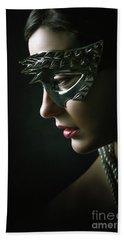 Bath Towel featuring the photograph Silver Spike Eye Mask by Dimitar Hristov