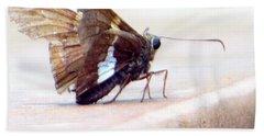 Silver Spotted Skipper Butterfly Bath Towel