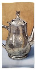 Silver Teapot Hand Towel