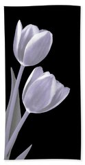 Silver Tulips Bath Towel