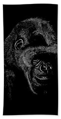 Silverback Hand Towel by Lawrence Tripoli