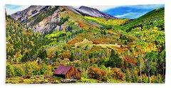 Silverton Fall Colors Colorado Hand Towel