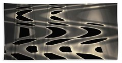 Silvery Abstraction Toned  Bath Towel