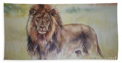 Hand Towel featuring the painting Simba by Sandra Phryce-Jones