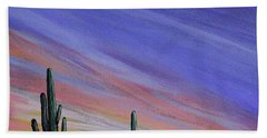 Simple Desert Sunset Three Bath Towel