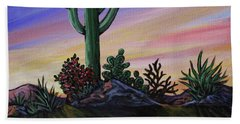 Simple Desert Sunset Two Hand Towel