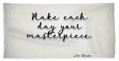 Simple Quote Series Wooden Bath Towel