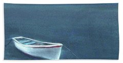 Simple Serenity - Lone Boat Hand Towel