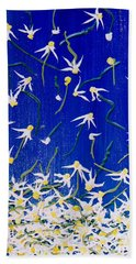 Bath Towel featuring the painting Simplicity by Teresa Wegrzyn