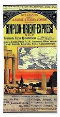 Simplon - Orient Express  Bath Towel