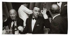Sinatra And Ed Sullivan At The Eden Roc - Miami - 1964 Hand Towel