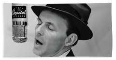 Sinatra Hand Towel by Paul Tagliamonte