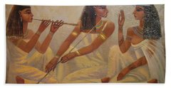 Singers Of Pharaoh Bath Towel
