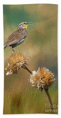 Singing Meadowlark Hand Towel