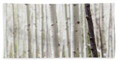 Single Black Birch Tree Trunk Hand Towel