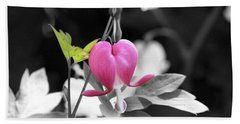 Single Bleeding Heart Partial Hand Towel