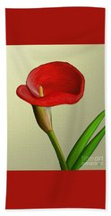 Hand Towel featuring the painting Single Pose by Rand Herron