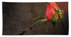 Single Rose Bath Towel by Ann Lauwers