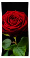 Single Rose Bath Towel