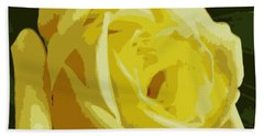 Friendship Rose Abstract Hand Towel