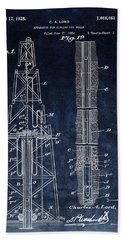 Sinking Oil Well Patent Hand Towel