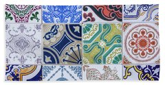 Hand Towel featuring the photograph Sintra Tiles by Carlos Caetano