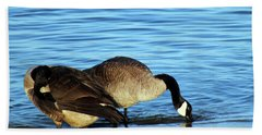 Sipping And Preening On The Beach Bath Towel