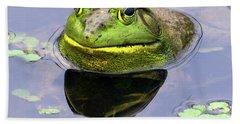 Sir Bull Frog Hand Towel