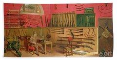 Sir Ralph Payne Gallwey In His Gunroom At Thirkleby Hall, Yorkshire, 1914 Hand Towel