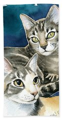 Sissy And Lily - Cat Painting Bath Towel