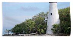 Sister Island Lighthouse Bath Towel