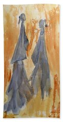 Sisters Hand Towel by Vicki  Housel