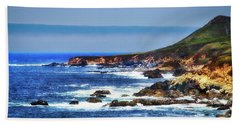 Sit And Stare Beach Hand Towel by Joseph Hollingsworth