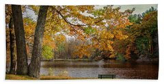 Sittin On The Banks Hand Towel by Susan McMenamin