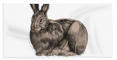 Sitting Bunny Jan 2017 Hand Towel by Donna Huntriss