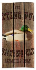 Sitting Duck Hunting Club Hand Towel