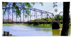 Bath Towel featuring the photograph Sitting In Fort Benton by Susan Kinney