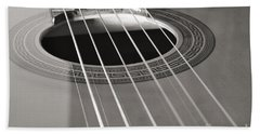 Six Guitar Strings Bath Towel