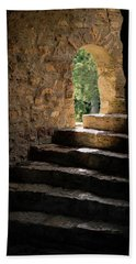 Six Steps And Sunlight Hand Towel