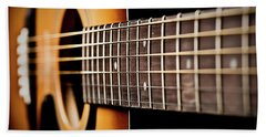 Six String Guitar Bath Towel