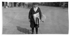 Six Year Old Newsie - Los Angeles - 1915 Hand Towel