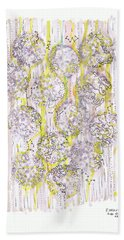 Size Exclusion Chromatography Bath Towel by Regina Valluzzi